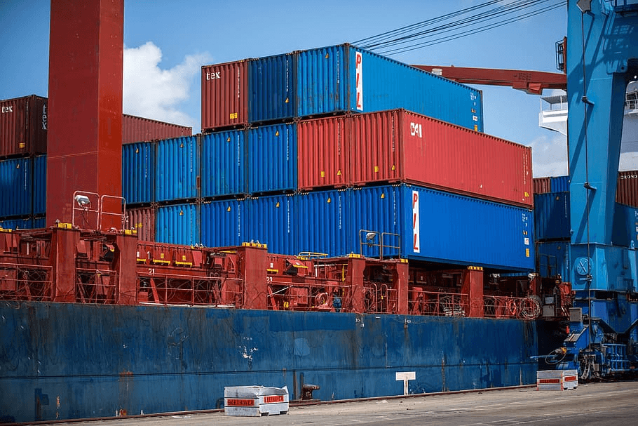 Containers used for maritime transport