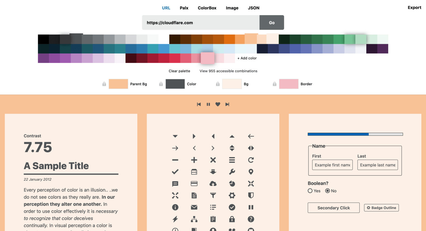 Cloudflare Design Color Tool