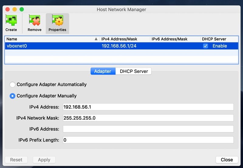 host network screen